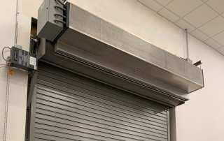 Industrial direct drive air curtain rolling steel door
