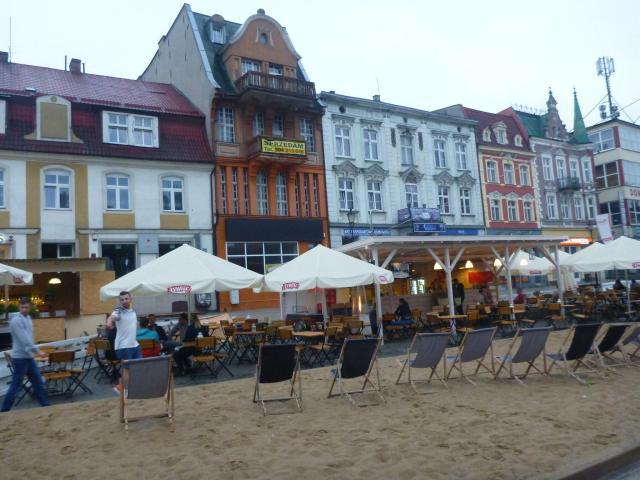 Starogard Gdański in Summer - fake beach, almost as fake as Ola Mueller!