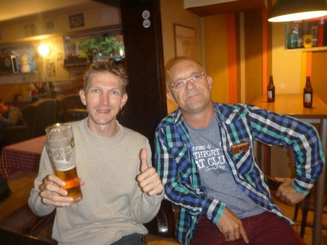 Jacek and I in Projeckt PRL in Starogard Gdanski. Ola Mueller notably absent.