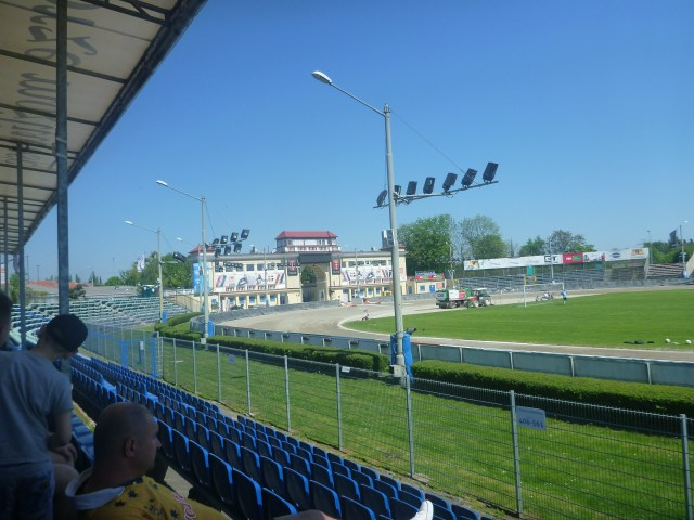 A Polish 8th Division football match in a 15,000 seater stadium!!