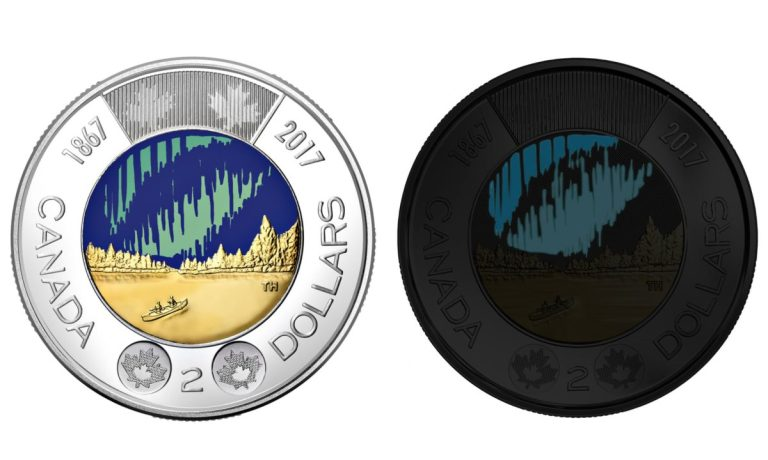 Canada releases worlds first glow-in-the-dark coin to mark 150th anniversary