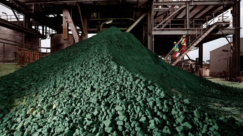 A stockpile at the Tenke Fungurume copper-cobalt mine in the Democratic Republic of the Congo, which is owned by China Molybdenum (56%) Lundin Mining (24%) and Gécamines (20%). Credit: Lundin Mining.