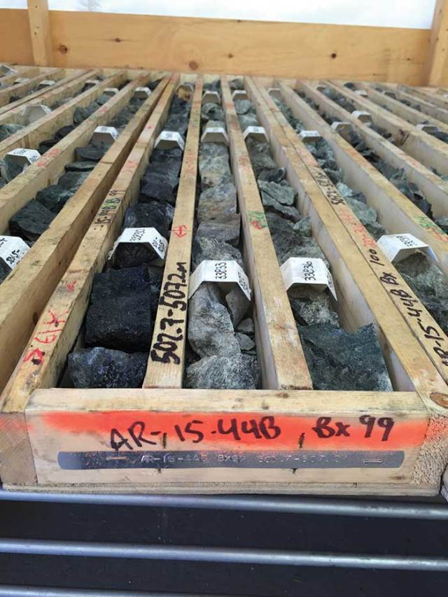 Drill core from NexGen Energy's Arrow project in northern Saskatchewan. Credit: NexGen Energy.
