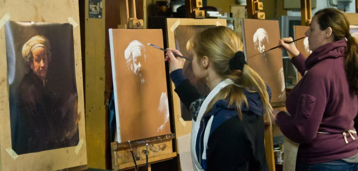 Master Copy Oil Painting on the Northern Realist Classical Atelier Course, Manchester