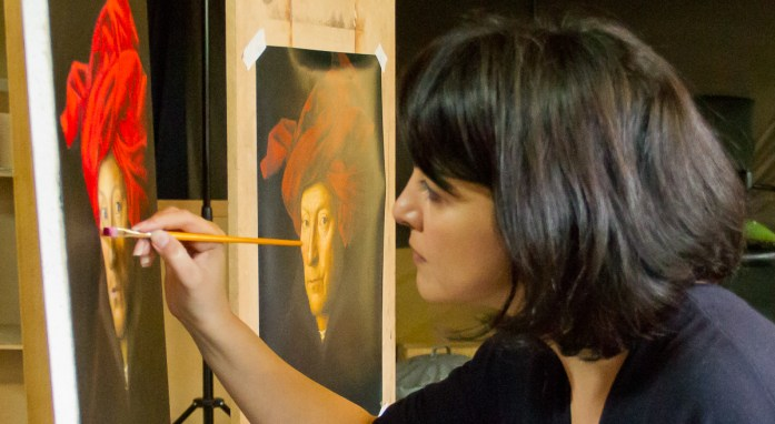 Master Copy Painting on the Classical Atelier Workshop at Northern Realist, Manchester