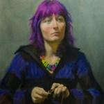 Portrait of Jen, oil on canvas by Christopher Clements