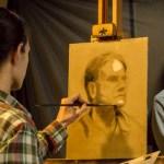 Northern Realist Portrait Workshop, student work in progress