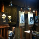 Cast painting at on the Norther Realist Classical Atelier Course