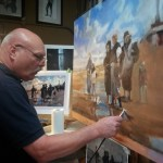 Northern Realist student Cliff Price working on a Sargent Master copy