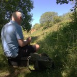 Northern Realist Plein Air Painting at Tegg's Nose Country Park, Macclesfield