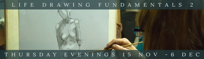 Life drawing Fundamentals 2 courses webpage link