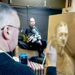 Grisaille underpainting in a Northern Realist portrait workshop