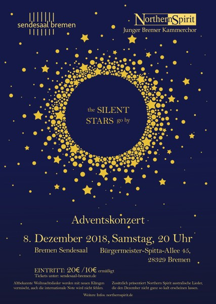 Sendesaal Adventskonzert Northern Spirit 2018