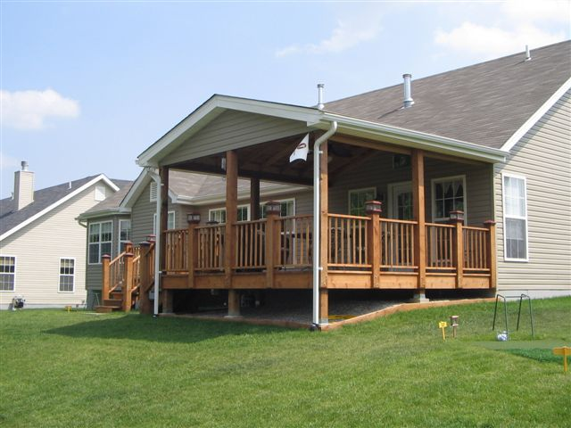 Decks, Patios & Roof Extensions | Northern Valley ... on Covered Back Deck Designs id=13545