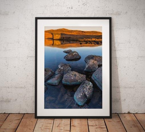 Lake District Landscape Photography, Devoke water, Sunrise, Cumbria, England. Landscape Photo. Mounted print. Wall Art.