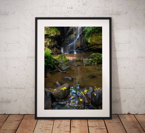 Northumberland Landscape Photography, Roughting Linn Waterfall , Nature, Autumn, England.  Photo. Mounted print. Wall Art.