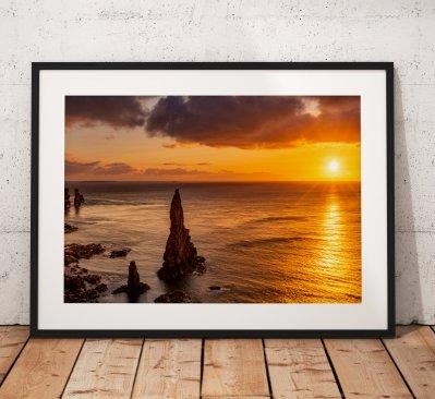 Scotland Landscape photo, Sunrise, Duncansby Stacks, John o Groats, Scotland, Scottish Highlands, Seascape, Nature, Cliffs, Wall Art