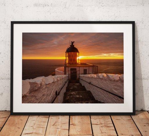 St Abbs Lighthouse Sunset