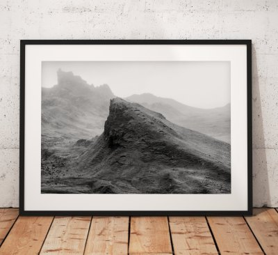 Skye Landscape photography, Mono , Scotland, Scottish, Mountain, Isle of Skye, Black and White, Mono, Wall Art