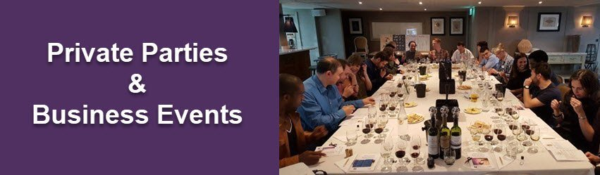 Wine tasting Manchester-Private parties and business events