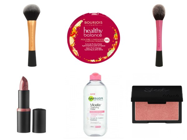 beauty budget tag collage