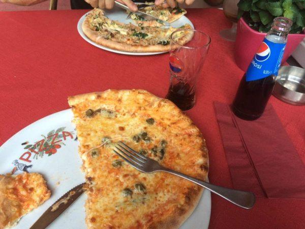 b pizza eten