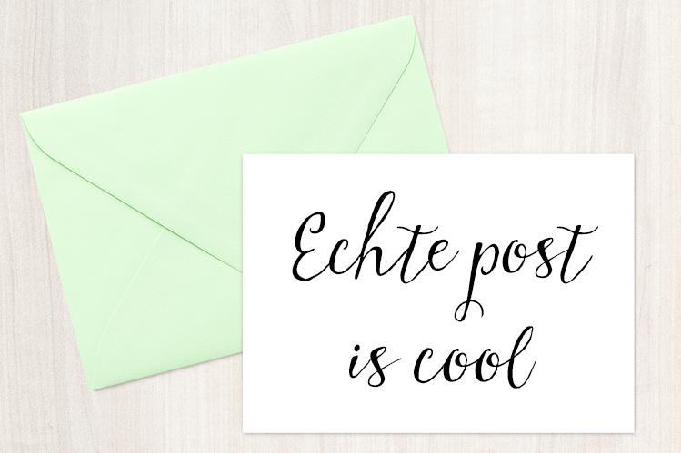 Echte Post Is Cool / EPIC-post project : Wie doet ermee?