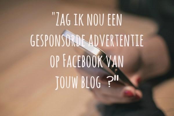 gesponsorde advertentie facebook blog