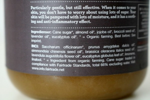 review-ervaringen-urtekram-brown-sugar-scrub-ingredienten