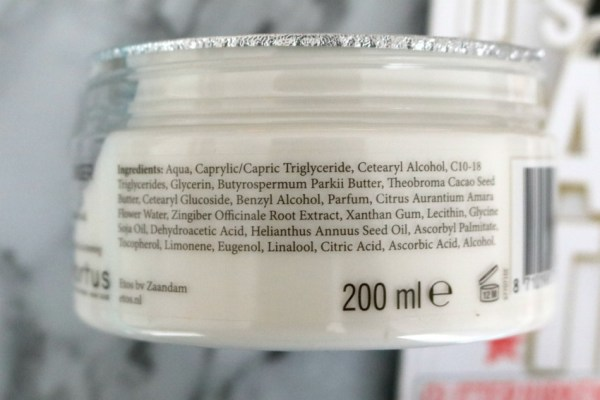review-ervaring-etos-orange-blossom-ginger-body-souffle-ingredienten