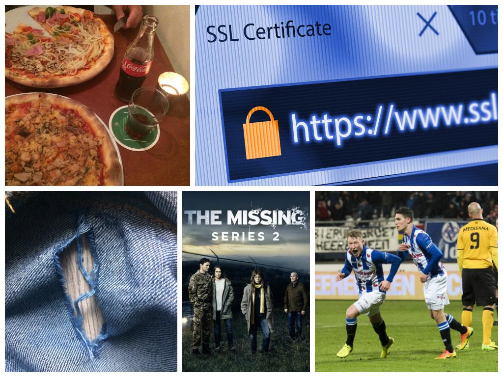 Een babbel-blog: SSL certificaat, Netflix tips, voetbal, pizza, #echtepostiscool en meer…