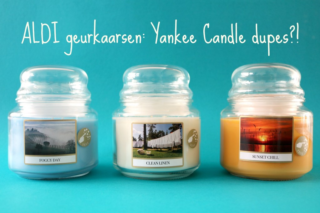 Review – ALDI geurkaarsen: Yankee Candle dupes?!