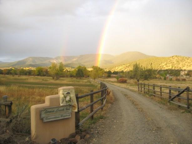 entrance w rainbow