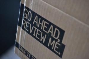 Words on box