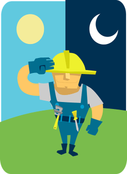 Technician salute