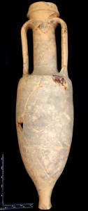 A Dressel 1A amphora, dating to before 100 BC, found in a chieftain's grave in Baldock: it is the oldest Roman amphora found in Britain