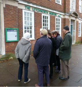 tour group outside letchworth museum