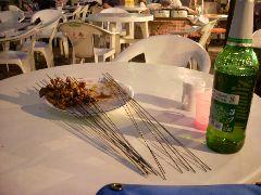 Kebabs and beer