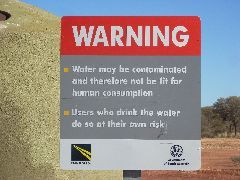 Dodgy Water sign