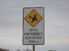 Emergency Airstrip on road