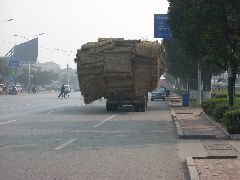 Overloaded Chinese truck