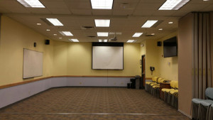 Meeting room 2 projector screen