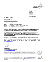 Road closure letter – 4115 All Alone Lane, Northleach – Amey Ref 22016513