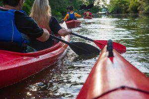 Kayaking the French Broad River in Asheville NC