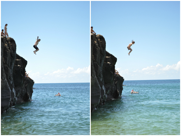 Waimea Bay Rock Jumping 1