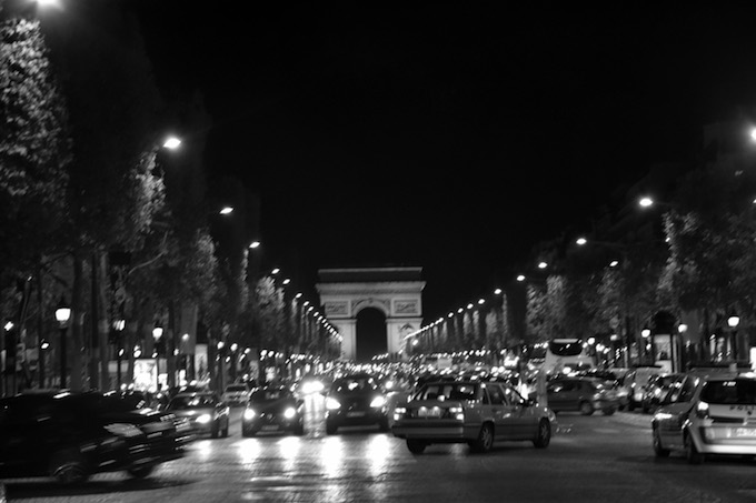Arc with traffic