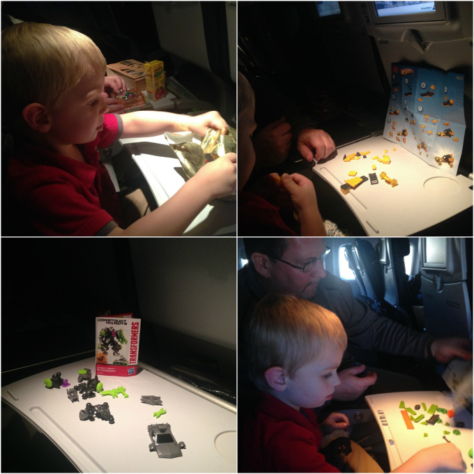 legos on the airplane