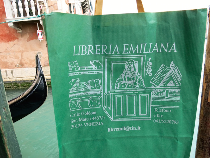 Libreria Emiliana Venice Bookstore Bag