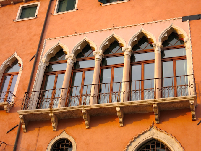 Venice Gondola Ride Windows