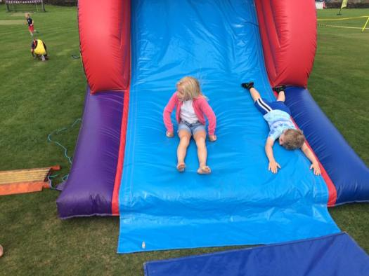 ...The bouncy castle obstacle course